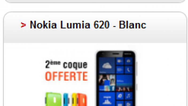 Free Mobile : Le Nokia Lumia 620 indisponible à la commande