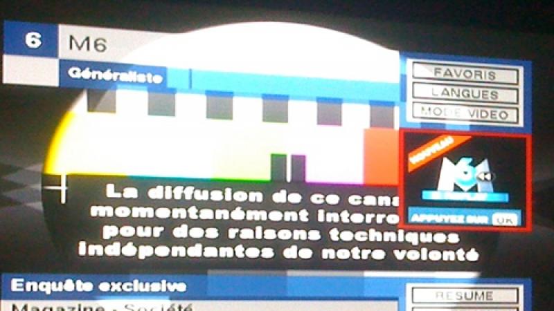 Freebox TV : Diffusion momentanément interrompue pour M6 HD