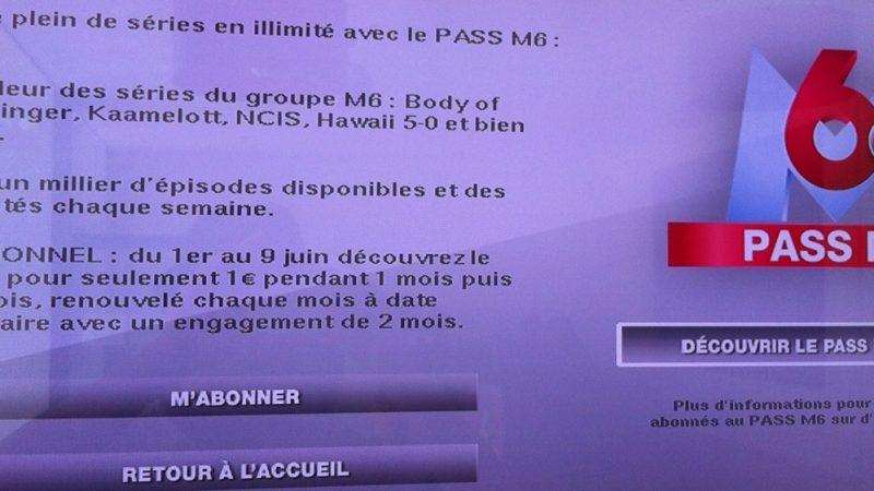 Freebox Tv : Le Pass M6 à 1 € pendant un mois