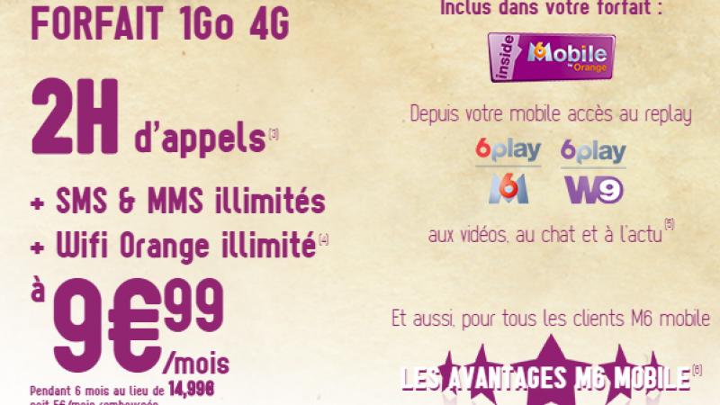 M6 Mobile : une nouvelle promo incluant 2h d'appels, SMS/MMS illimités et 1 Go de data