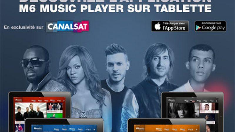 M6 Music Player, disponible sur Canalsat uniquement via Freebox et SFR Evolution, lance son appli pour tablette
