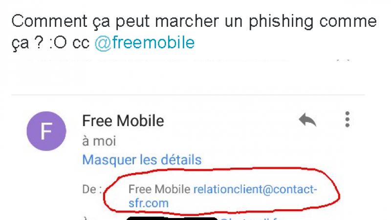 Clin d'œil : Rions un peu avec ce mail frauduleux visant les abonnés Free Mobile