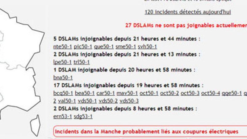 La neige impacte les équipements de France Télécom, des Freenautes touchés également
