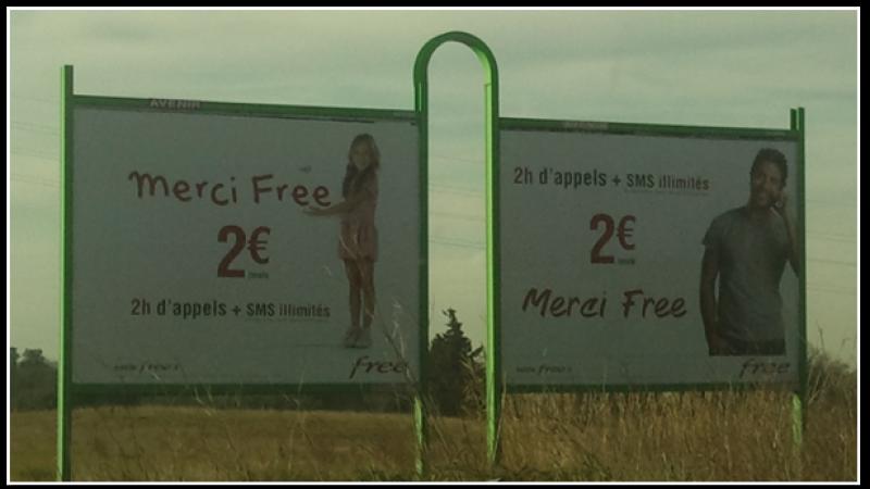 Clin d'œil : Free Mobile et Golan Télécom ont en commun leurs prix bas, mais aussi leurs mannequins