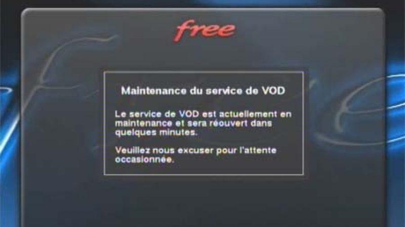 Les services VOD de Freebox TV en maintenance