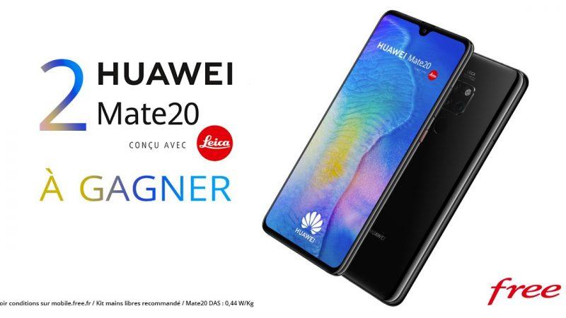 Free lance un jeu concours et fait gagner deux Huawei Mate 20