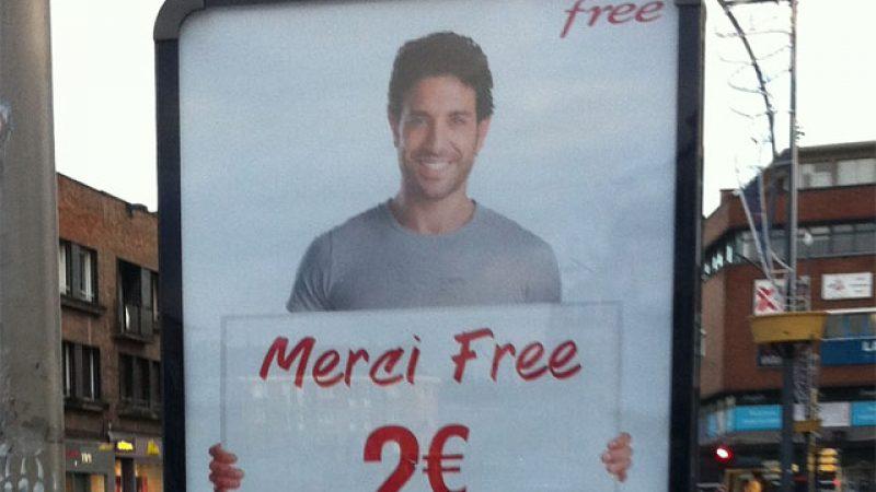 Nouvelle campagne d'affichage : « Merci Free »