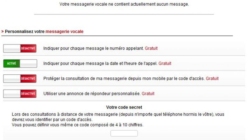 comment configurer code d acces messagerie free mobile