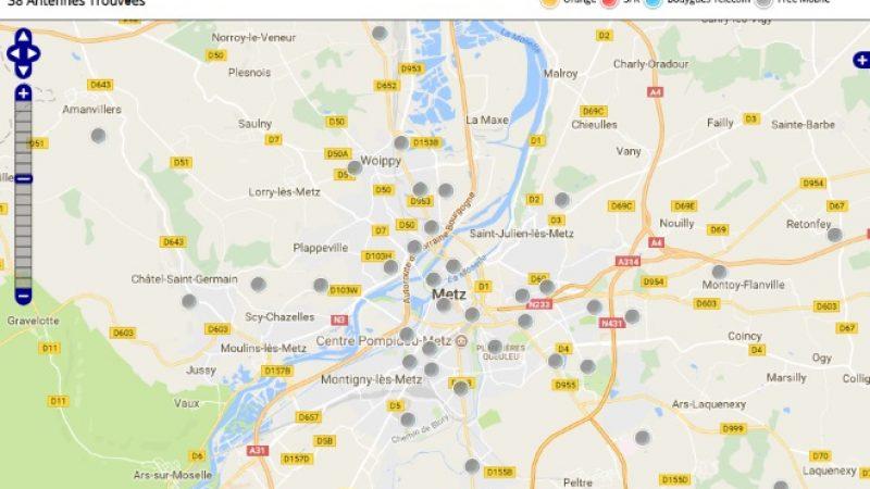 Découvrez la répartition des antennes mobiles Free 3G/4G sur Metz