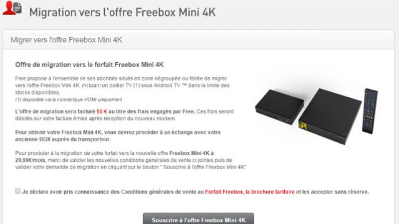 Les migrations de la Freebox Crystal vers la Freebox 4K sont maintenant disponibles