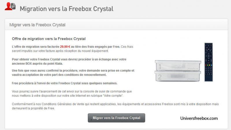 [MàJ] Freebox Crystal : Un prix inchangé et une migration possible pour les abonnés Freebox HD