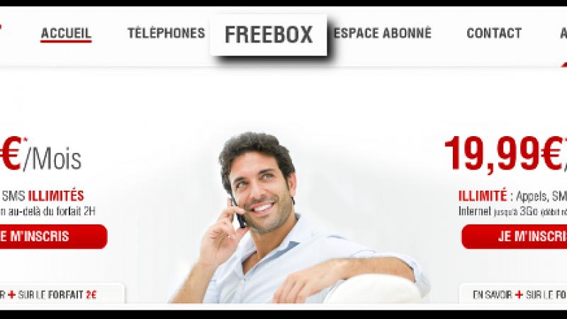 Free ajoute l'onglet « Freebox » sur le site de Free Mobile