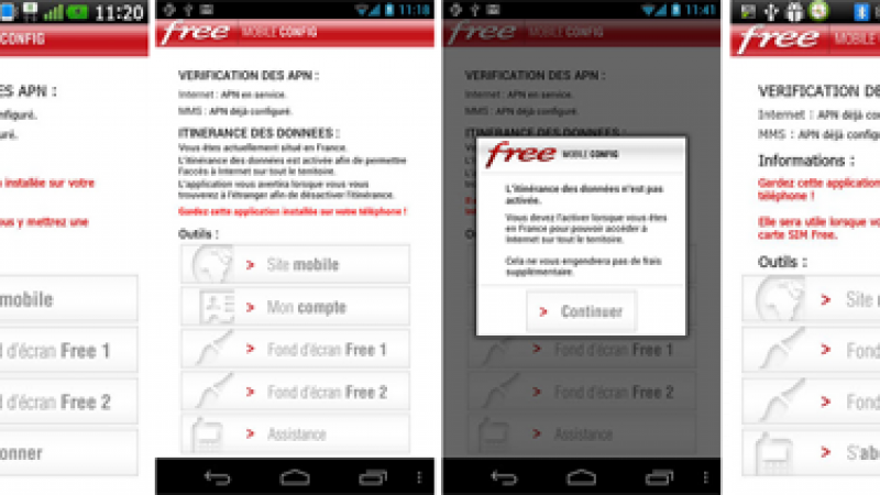 Free Mobile : Nouvelle mise à jour pour Mobile Config