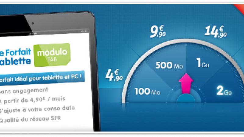 Prixtel propose « Modulo Tab », des forfaits ajustables pour tablettes
