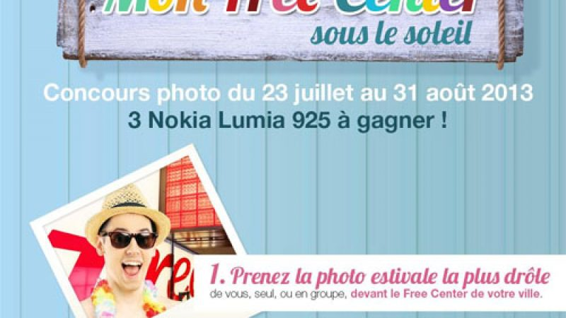 Partez en vacances dans un Free Center et gagnez un Nokia Lumia 925 !