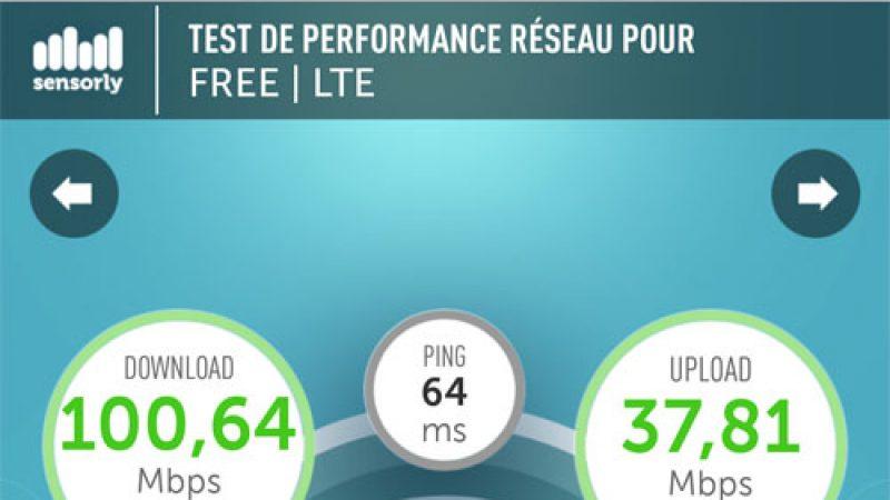 4G Free Mobile : des débits qui dépassent les 100 Mbit/s en conditions réelles !