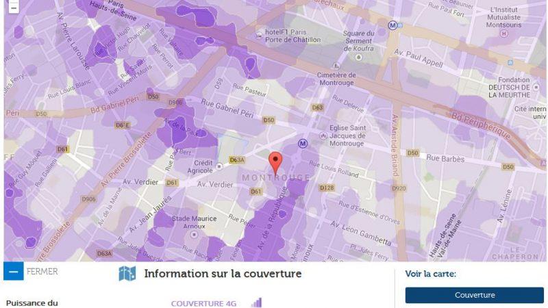 Couverture et débit 4G Free Mobile : Focus sur Montrouge