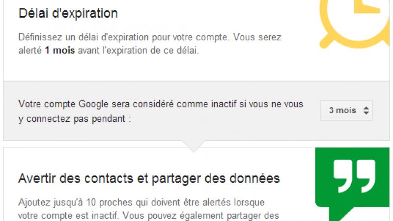 Google propose un testament pour vos données