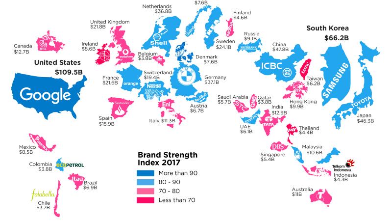 Classement Brand Finance : Google dépasse Apple, Orange est numéro 1 en France