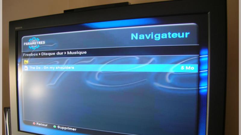 Exclusif: La Freebox HD lit les fichiers MP3