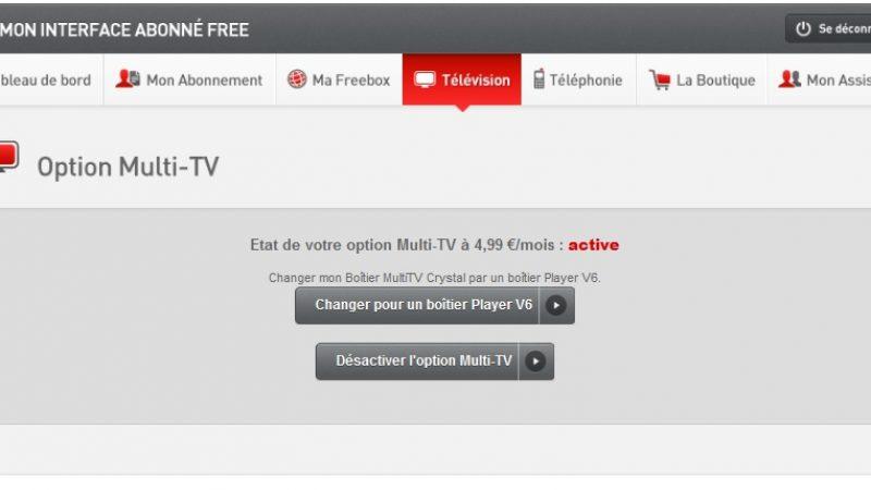 Free propose  la migration Freebox Player pour les abonnés Multi TV en V5