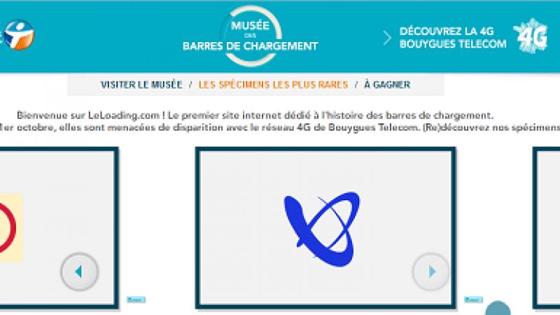 Bouygues Telecom inaugure le musée virtuel des barres de chargement pour promouvoir sa 4G