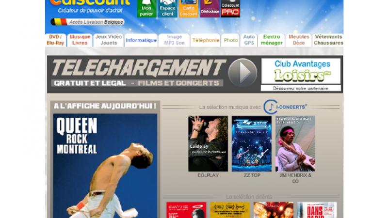 Cdiscount : Téléchargez gratuitement et légalement des concerts