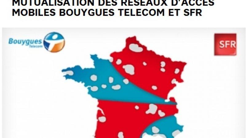 SFR et Bouygues publient la carte prévisionnelle de leur réseau mutualisé