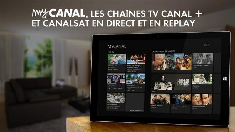 MyCanal : annonce de plusieurs nouveautés pour Windows 8.1 et  iOS