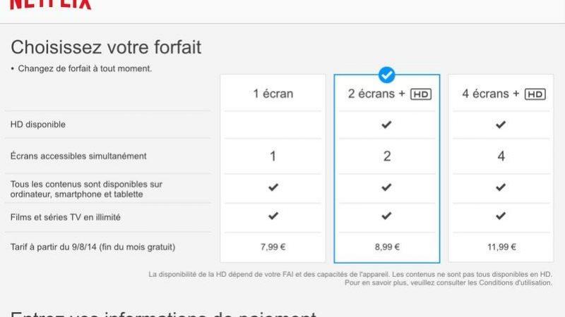 Netflix : les 3 offres et les tarifs pour la France se confirment