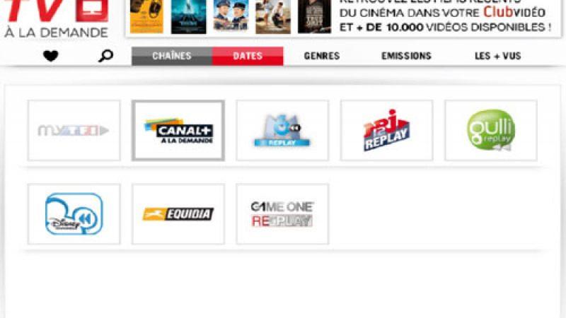 SFR active seulement 8 chaînes dans son portail TV de rattrapage