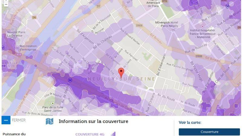 Couverture et débit 4G Free Mobile : Focus sur Neuilly Sur Seine