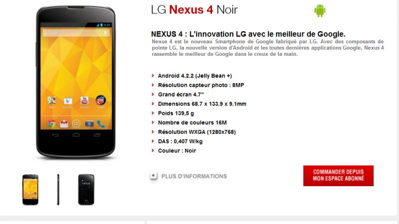 Free Mobile : le LG Nexus 4 et le Samsung Galaxy Trend disponibles à la commande