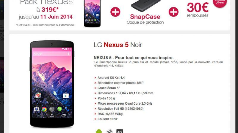 Free Mobile lance une offre spéciale : le pack Nexus 5