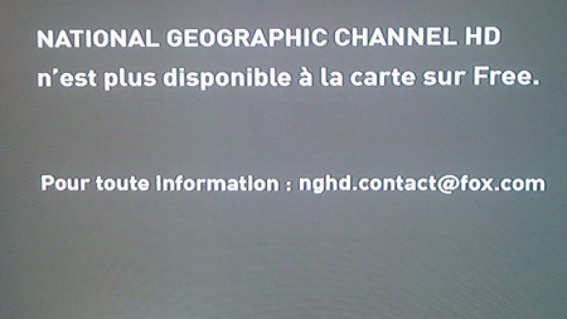 National Geographic Channel HD sur Freebox TV : c'est fini…