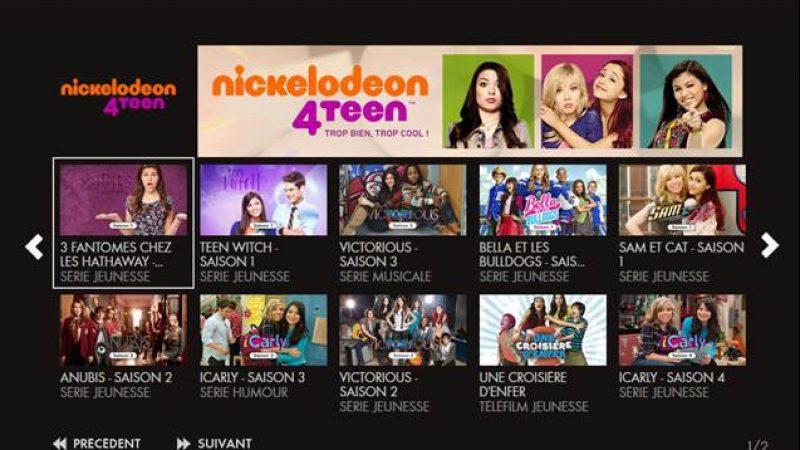 Nouveau service de Replay sur Canalsat : Nickelodeon 4teen
