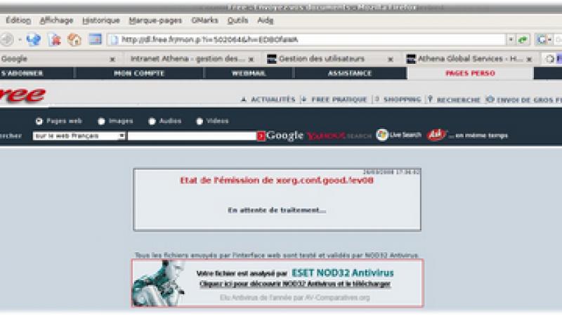 Free choisit ESET NOD32 pour protéger les utilisateurs de dl.free.fr
