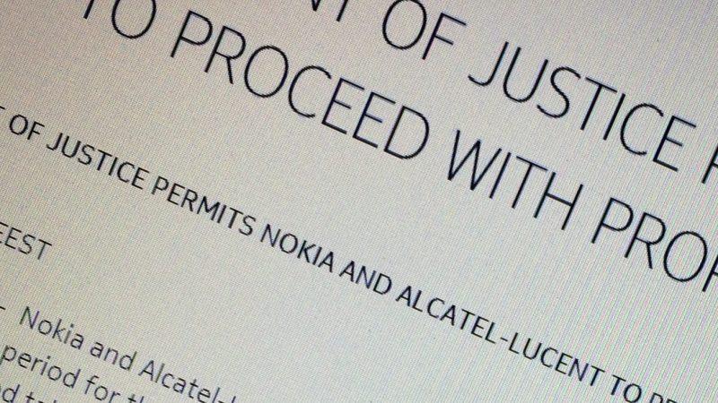 La justice US donne son feu vert à Nokia et Alcatel-Lucent