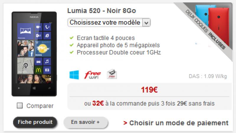Free Mobile : des prix en baisse pour quatre smartphones de la gamme Lumia