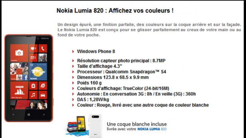 Deux nouveaux modèles de smartphones disponibles chez Free Mobile dont le Nokia Lumia 820 (4G)