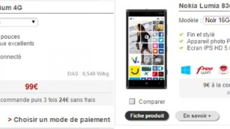 Deux smartphones disparaissent de la boutique Free Mobile