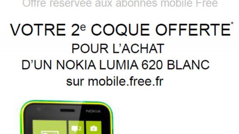 Nokia et Free Mobile prolongent l'offre « une 2ème coque offerte » pour le Lumia 620