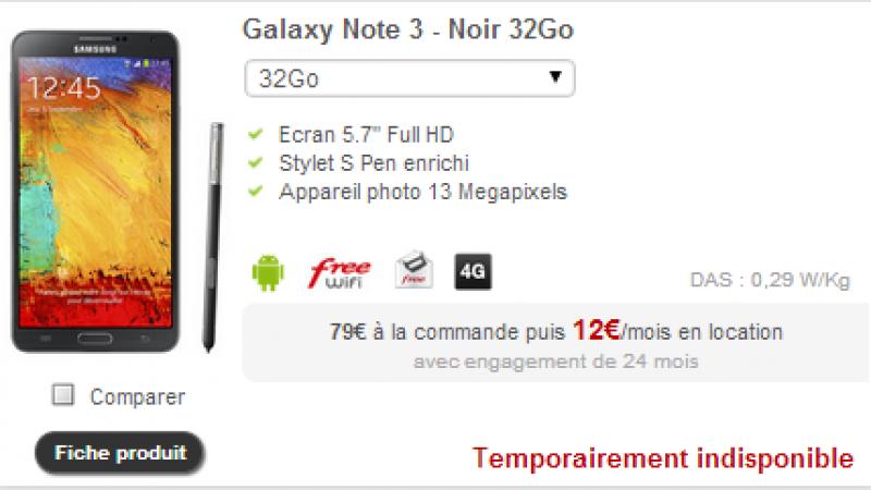 4G Free Mobile : Mise à jour disponible pour le Note 3 et rappel des smartphones compatibles et bientôt compatibles