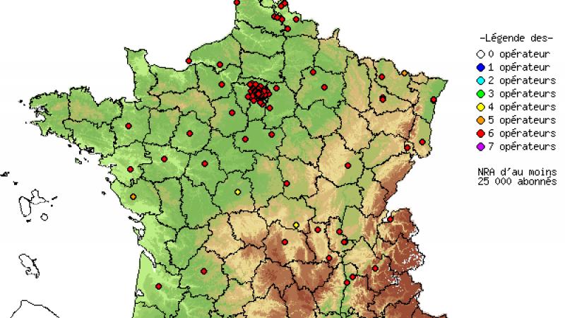 Le dégroupage en France : SFR devance Iliad.