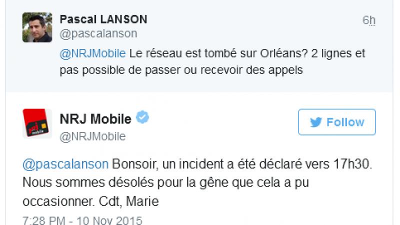 Un nouvel incident réseau chez NRJ Mobile