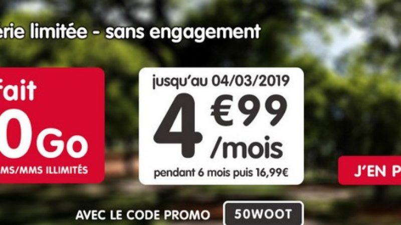 NRJ Mobile : un forfait 50 Go en promotion à 4,99 euros/mois