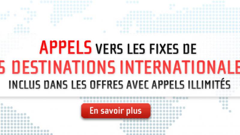 NRJ mobile ajoute les appels illimités vers les fixes de 55 destinations