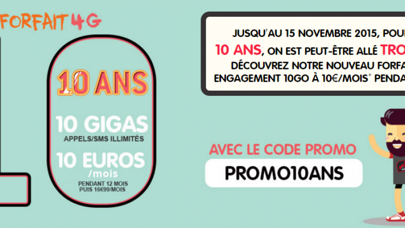 NRJ Mobile : les appels/SMS/MMS illimités et 10 Go pour 10 euros/mois