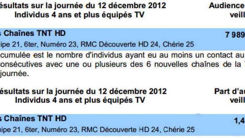 Médamétrie publie les premiers résultats d'audience des 6 nouvelles chaînes de la TNT