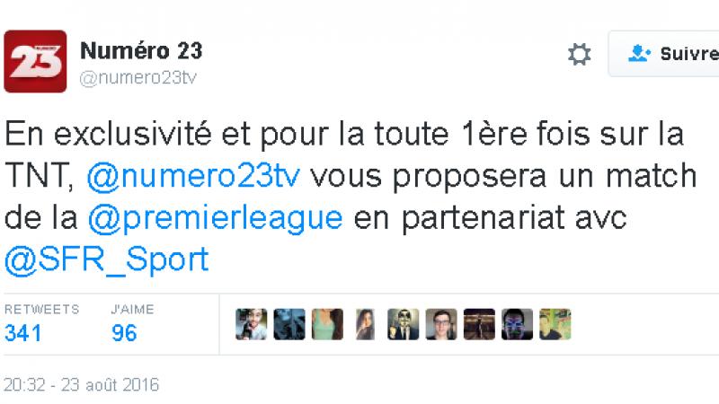 Numéro 23 s'allie à SFR Sport pour diffuser des matches de la Premier League en clair